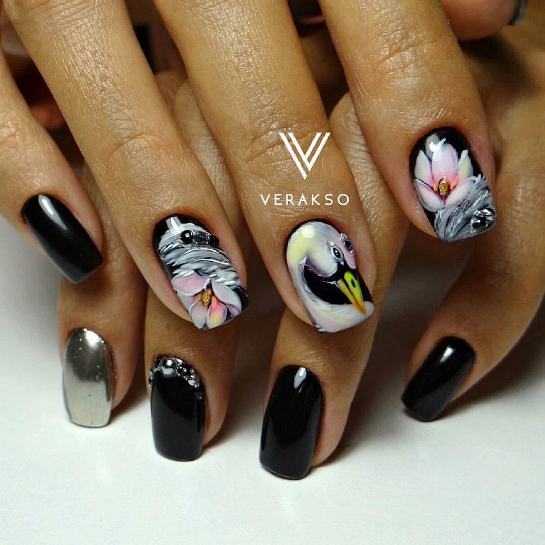 Nail Art #2921 - Best Nail Art Designs Gallery   Bird nail art ...