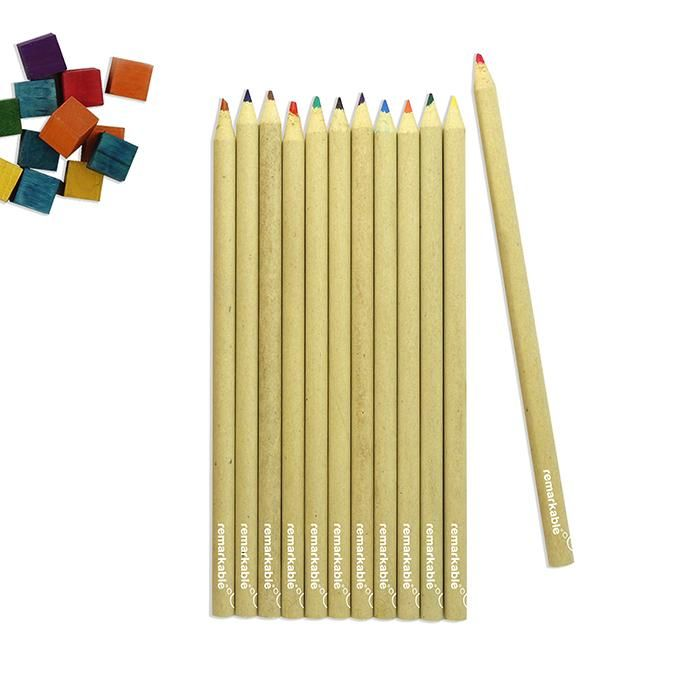 Recycled Newspaper Colouring Pencils