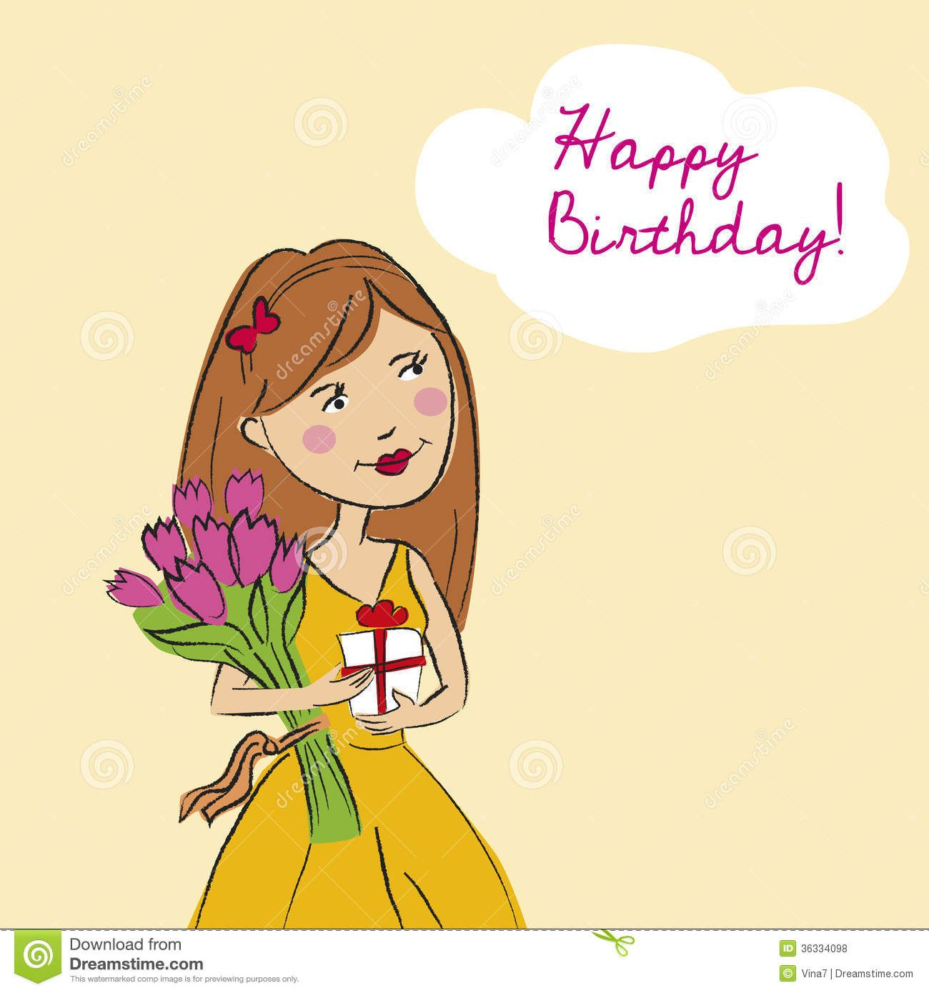 Beautiful birthday girl happy birthday Pinterest – Birthday Cards Girls