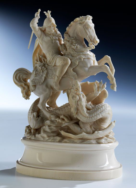 Ivory statue of St. George.