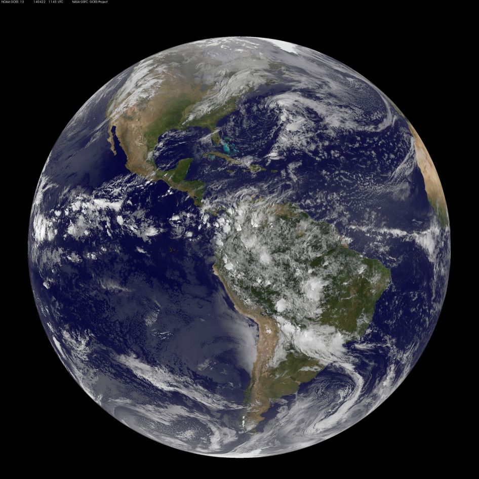 Satellite View Of The Americas On Earth Day Earth From Space Satellite View Of Earth Earth Day Images