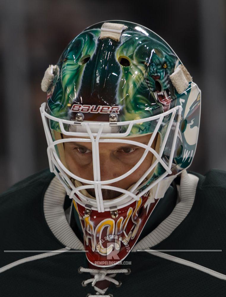 MN Wild Niklas Backstrom's mask from the 2012-13 season  #sports #mnwild #niklasbackstrom #goaliemasks