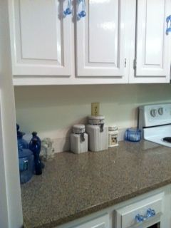 Silestone Quartz Blue Sahara And White Cabinets Kitchen Remodel