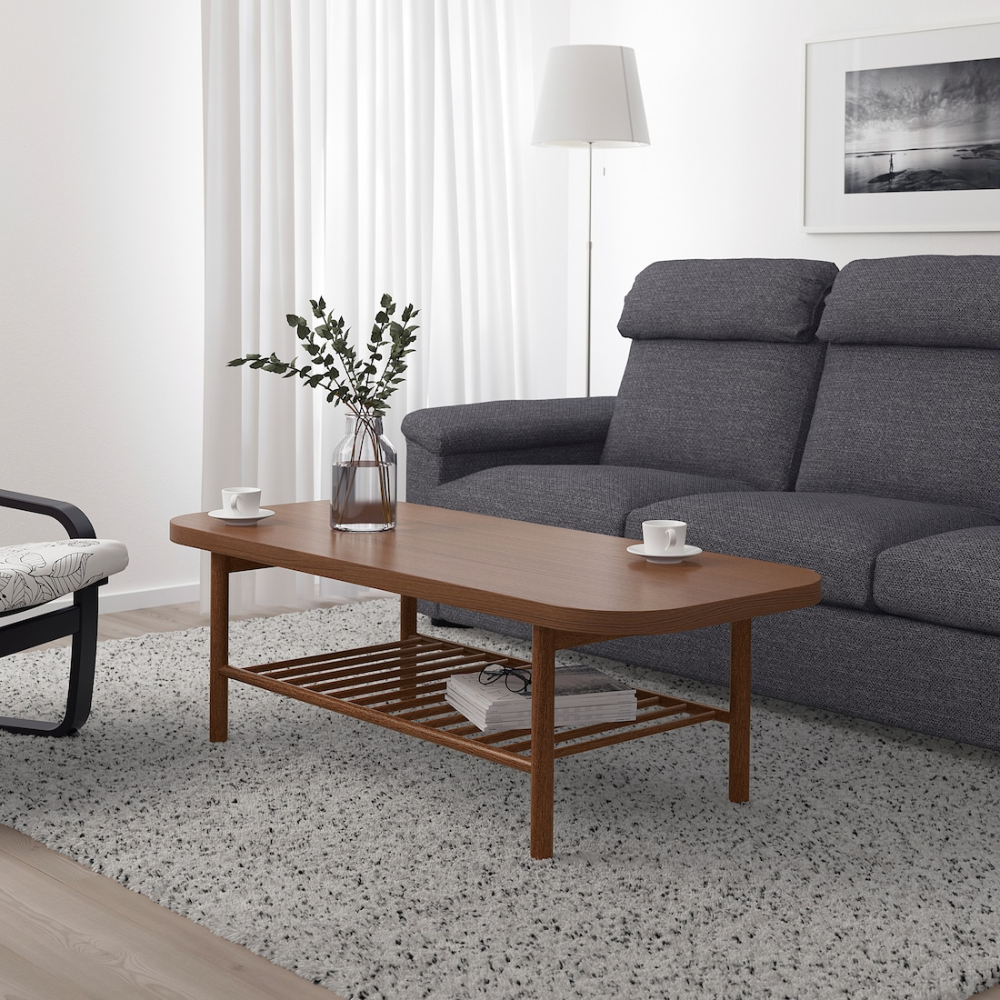 Listerby Coffee Table Brown 55 1 8x23 5 8 Ikea In 2020 Wooden Coffee Table Designs Coffee Table Living Room Table [ 1000 x 1000 Pixel ]