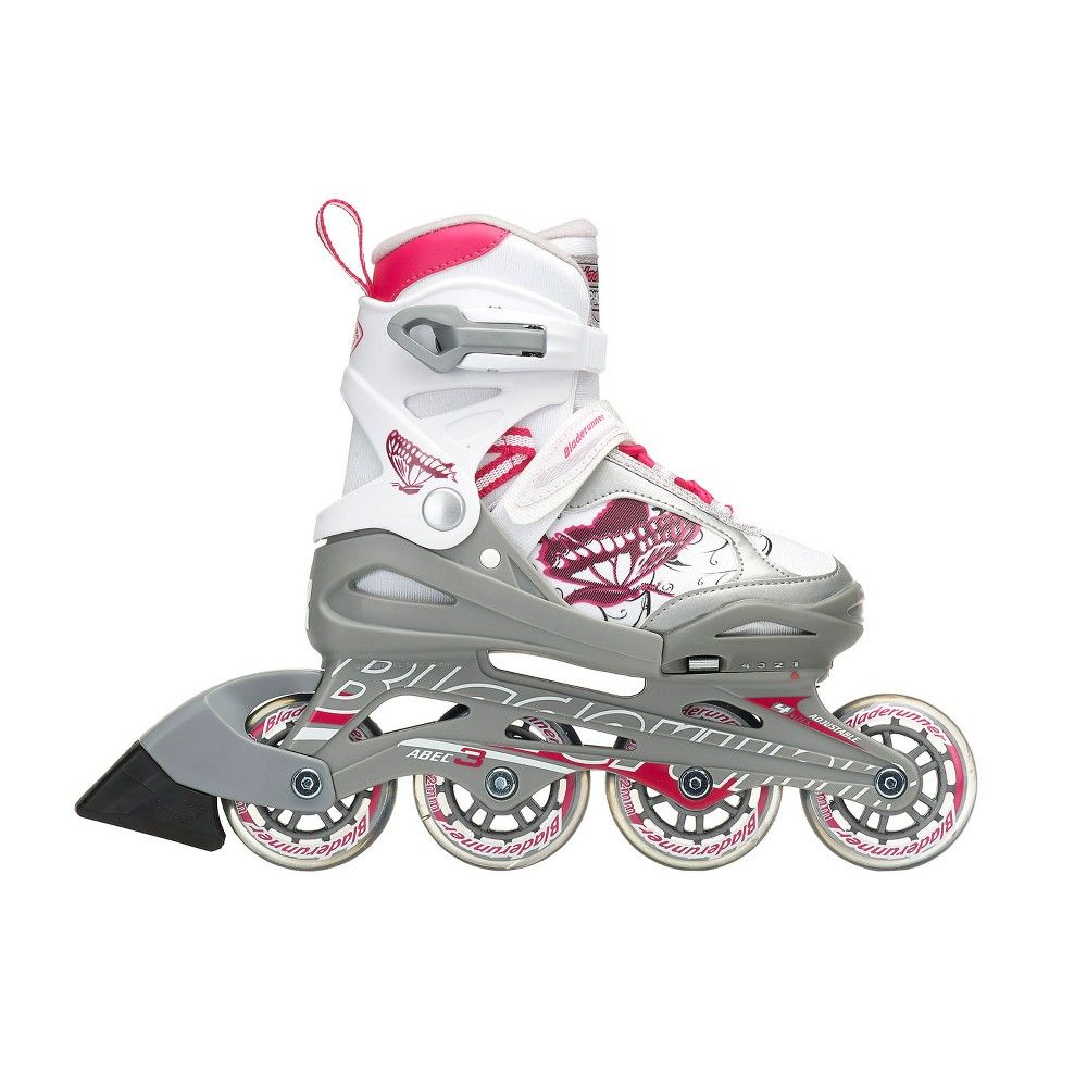 Roller Derby Cheetah S4 Girl/'s Adjustable Inline White//Red