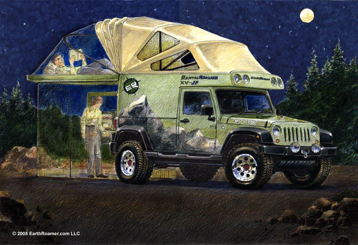 EarthRoamer XV-JP Jeep Wrangler Rubicon Expedition Vehicle