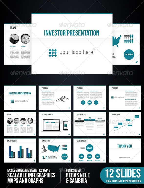 investor presentation | presentation templates, template and ui ux, Presentation templates