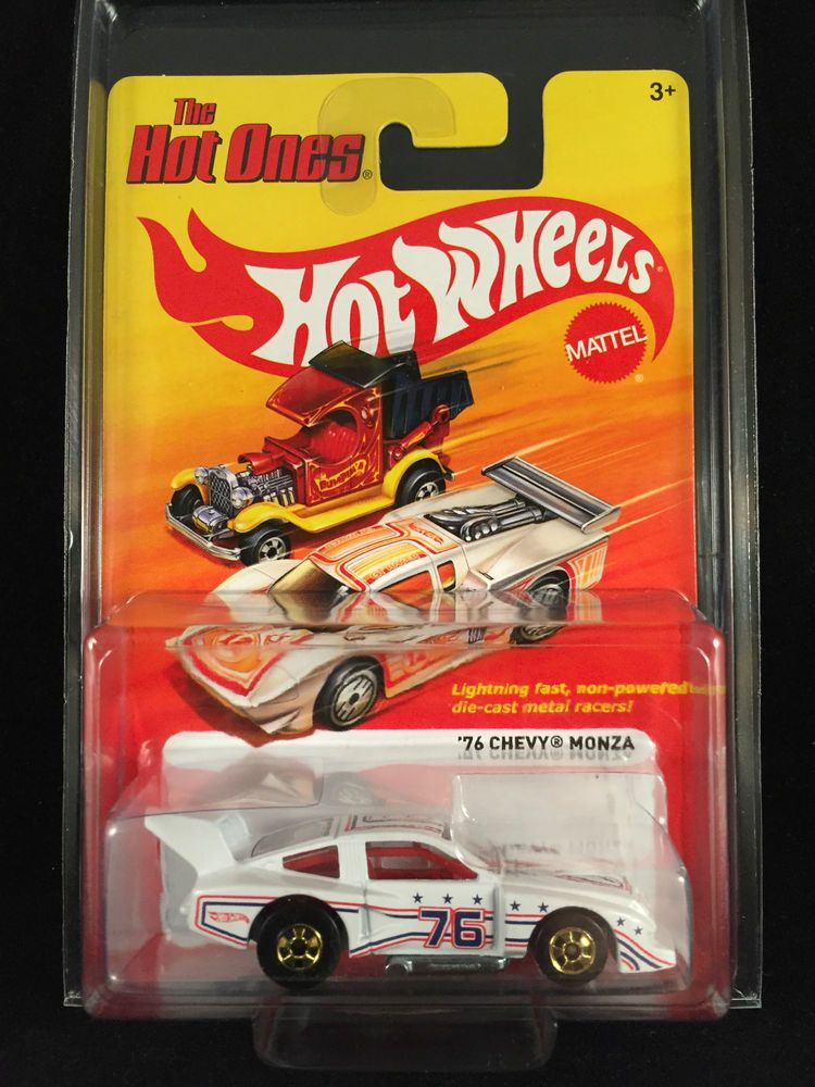 2012 Hot Wheels Hot Ones 76 Chevy Monza White W3775 1 64 W