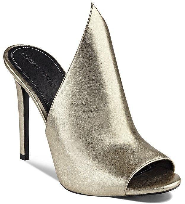 KENDALL + KYLIE Essie Metallic Winged High Heel Slide Sandals