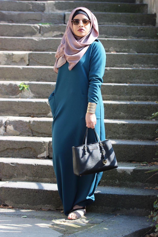 Mayssa Boutique robe yousra vert canard - mayssa | hijab | pinterest | robe