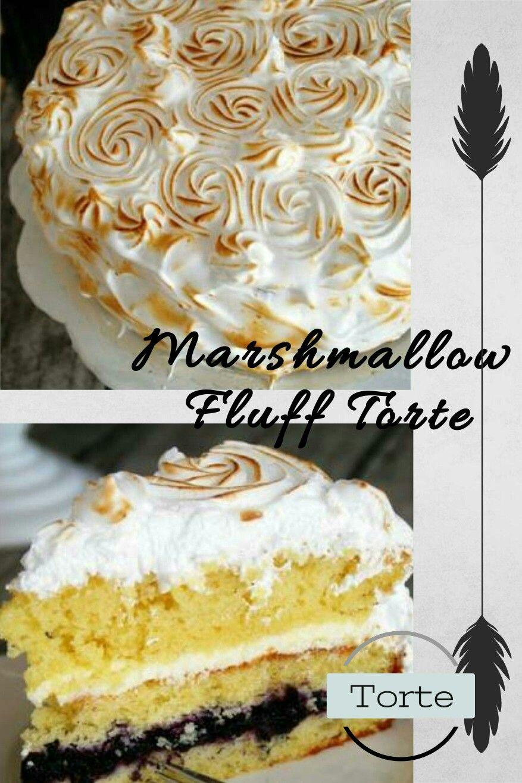 Marshmallow Fluff Torte Mit Heidelbeer Und Weisser Schokolade Fullung