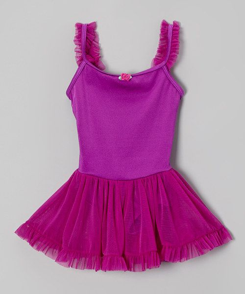 adde3cc19 Love this Body Wrappers Magenta Rose Ruffle Skirted Leotard ...