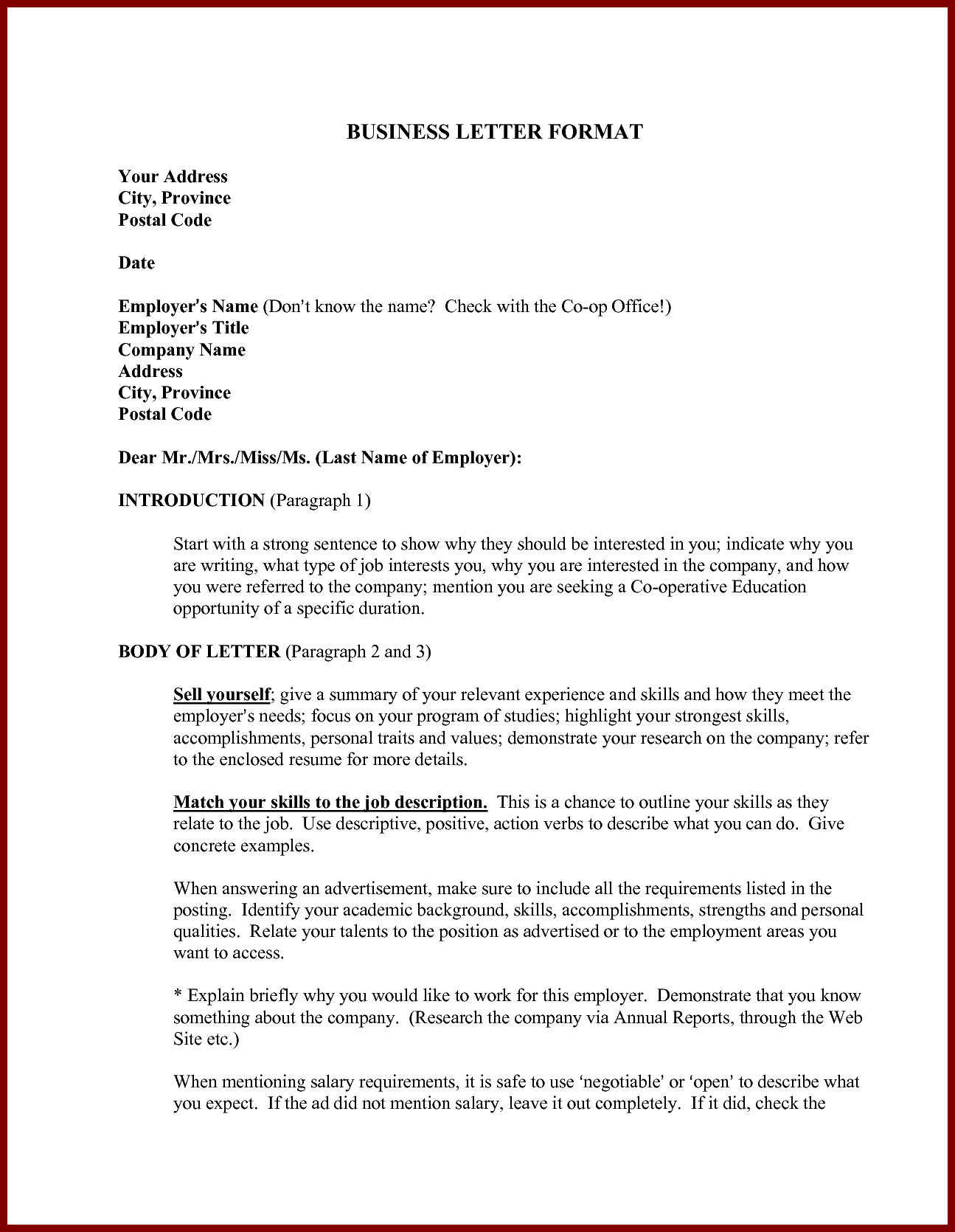 Business Letter Email Example Pdf Samples Sample Templates Free