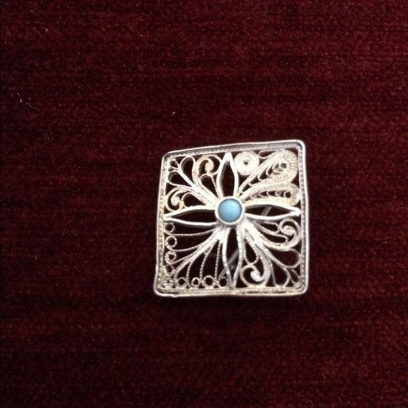 Handmade pin brooch silver and handmade! Jewelry Brooches