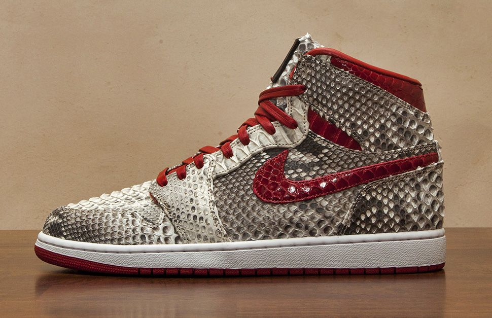 "a7a594fac6a ""Metallic Red Python†Air Jordan 1 Retro High OG Custom by JBF ..."