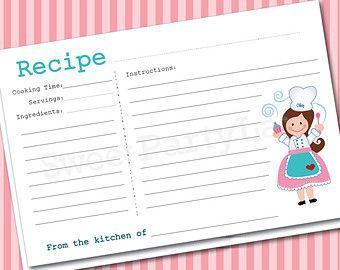 Cute Recipe Cards