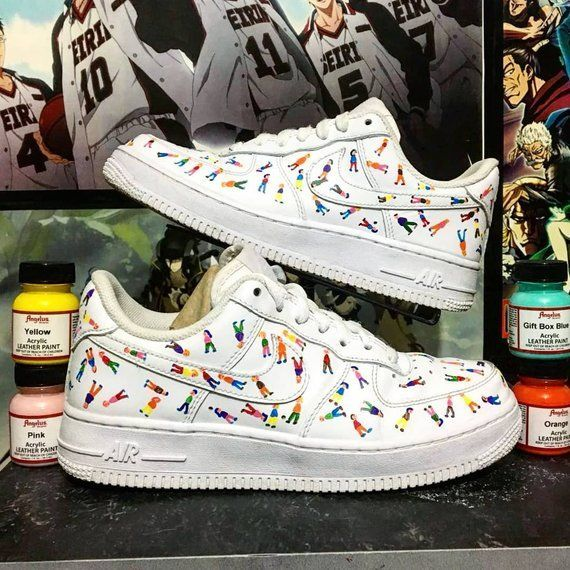 Little People Custom Nike Air Force one, baskets sur mesure