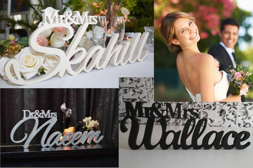 Wedding Centerpiece Decoration Custom Mr Mrs In 2018 Best Bridal