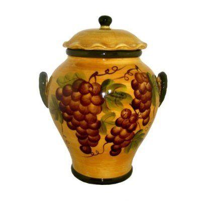 Tuscany Grape Cookie Jar Wine Decor Amazon Com Home Kitchen