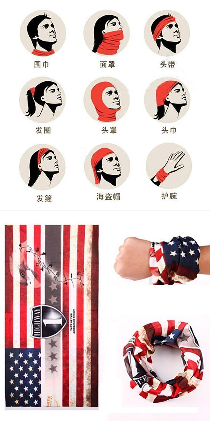 #American #face #fitness #Flag #Gleitscheiben #gleitscheiben fitness #Headband #Magic #American #fac...