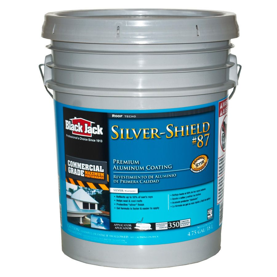 Black Jack Silver Shield 4 75 Gallon Aluminum Reflective Roof Coating 1 Year Limited Warranty Lowes Com In 2020 Roof Coating Rubber Roof Coating Aluminum Roof