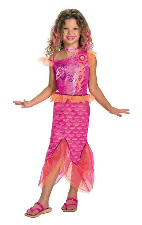 Girlu0027s Barbie Mermaid Costume  sc 1 st  Pinterest & Girlu0027s Barbie Mermaid Costume | Spooky | Pinterest | Mermaid costume ...