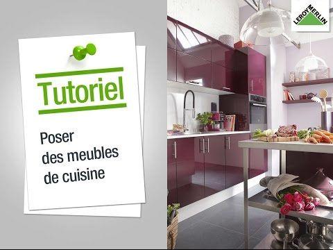 Comment poser des meubles de cuisine ? Leroy Merlin - YouTube ع - comment poser un evier de cuisine