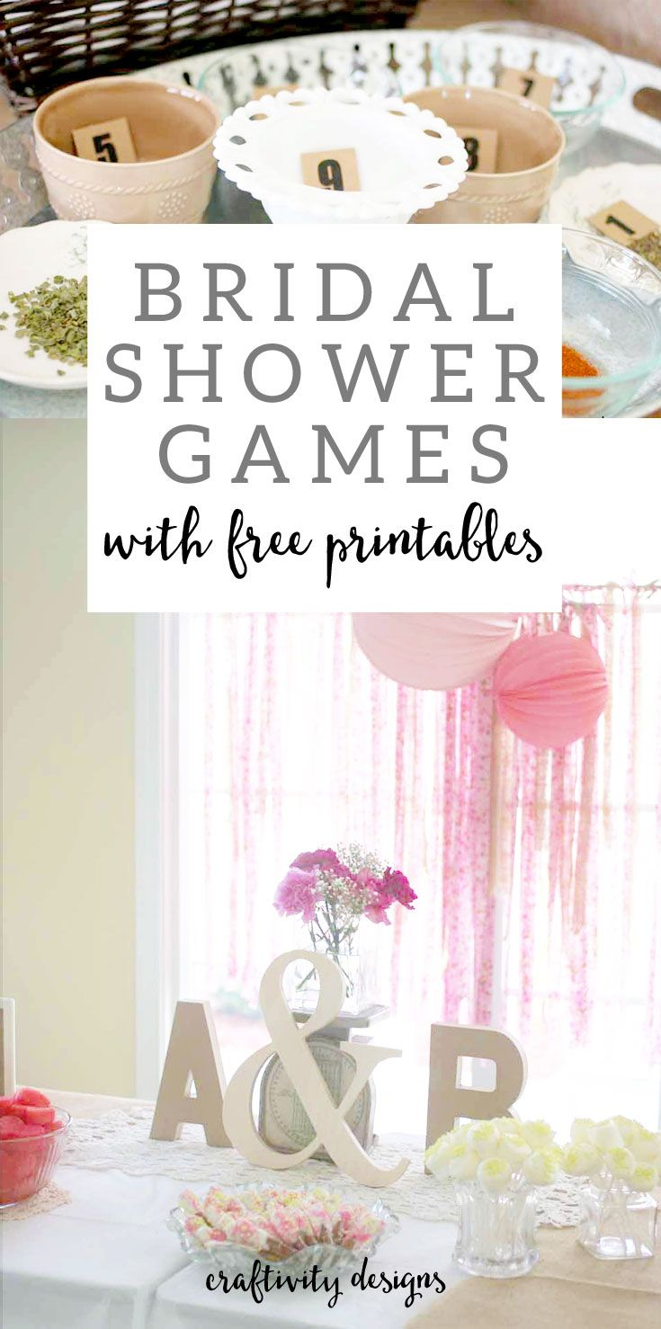Bridal Shower Games with Free Printables by @CraftivityD