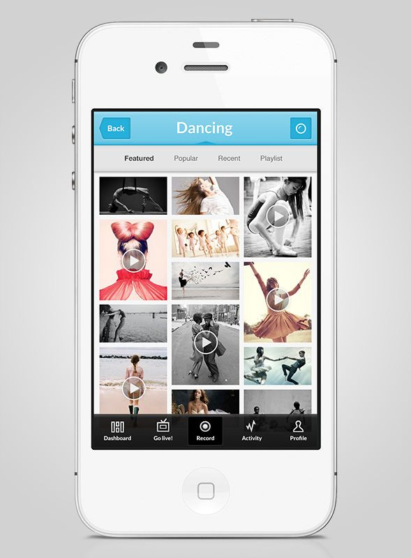 iPhone app for ProudOnTV - gallery screen | Something i have done ...