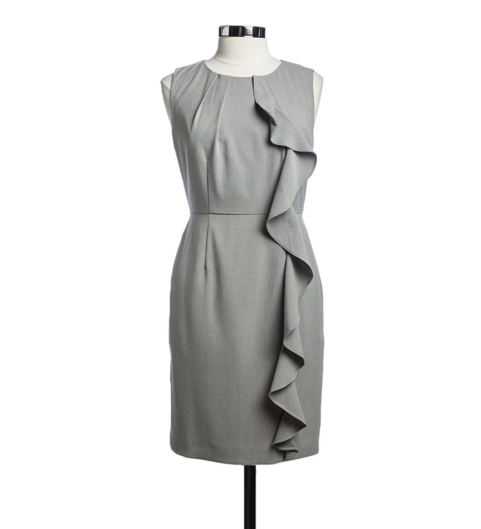 Ruffled Grey Dress