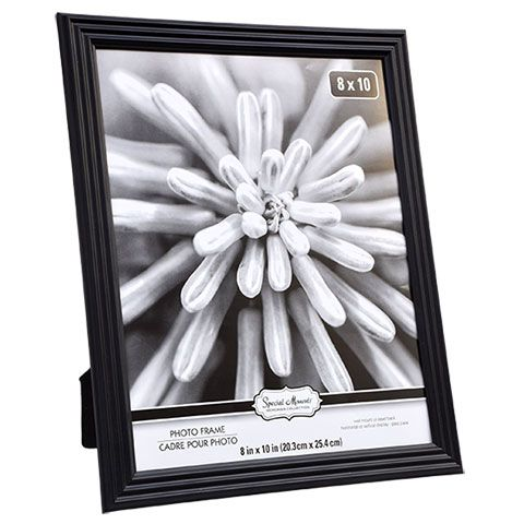 Bulk Special Moments Narrow Edge Black Plastic Photo Frames 8x10 In