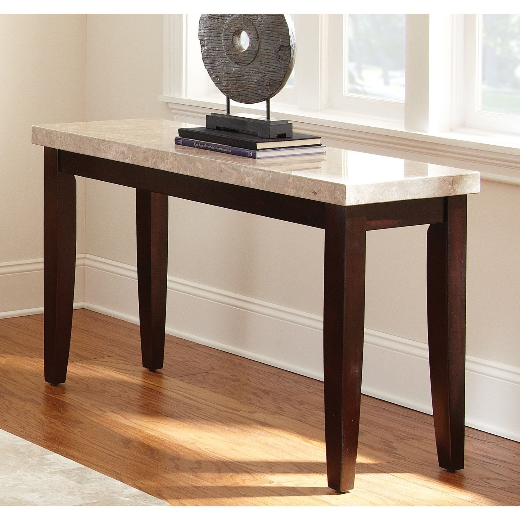 Malone marble top sofa table by greyson living by greyson living malone marble top sofa table overstock shopping great deals on coffee sofa geotapseo Images