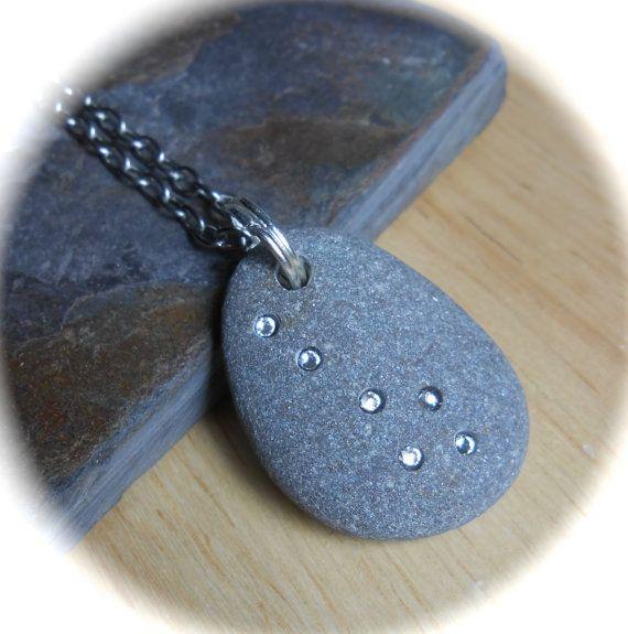 Emma's Comet  Beach Stone Jewelry  Swarovski by SeaFindDesigns, $30.00