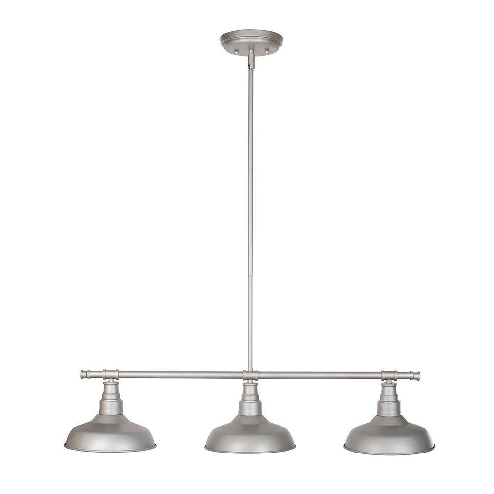 Design House Kimball 3 Light Galvanized Steel Indoor Pendant 520379 The Home Depot In 2021 Indoor Pendant Kitchen Island Lighting Kitchen Lighting