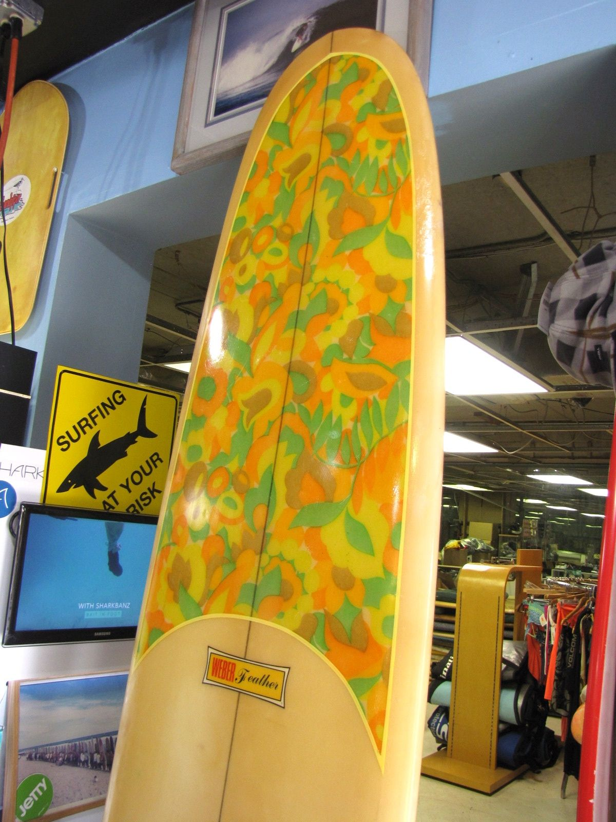 Dewey Weber feather vintage surfboard waveset fin used surfboards s ...
