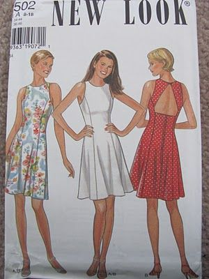 98 Red Balloons Vintage Pattern Goodness Fabric 90s Dress Pattern New Look Patterns Fit And Flare Dress