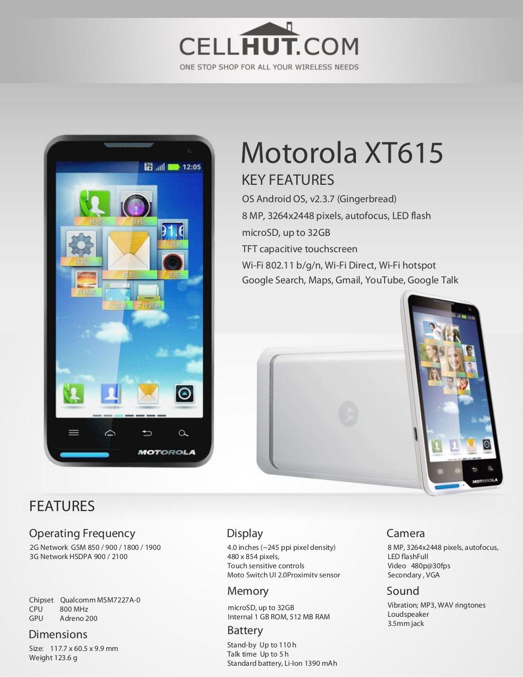 New cell phone battery for samsung ativ s gt i8750 i8750 omnia odyssey - Motorola Xt615 Unlocked Quadband Gsm Cell Phone 14935487 By