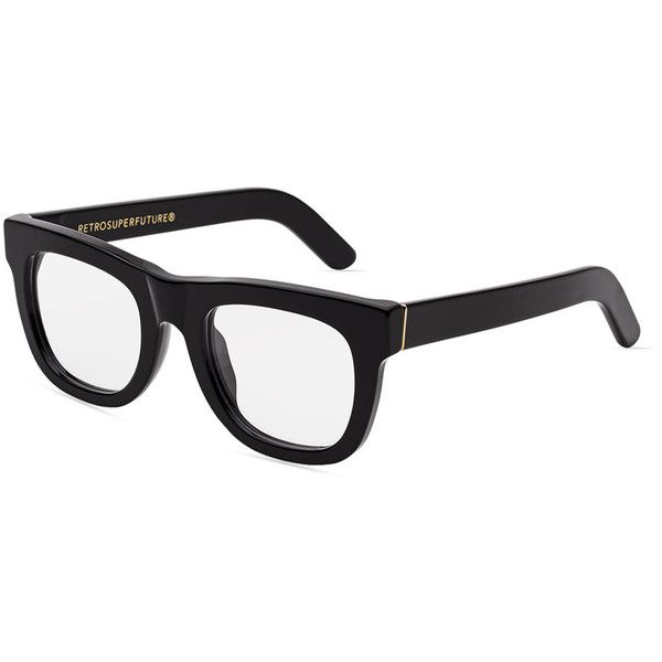 21f8e847d8 Super By Retrosuperfuture Ciccio Square Optical Frames ( 169) ❤ liked on  Polyvore featuring accessories
