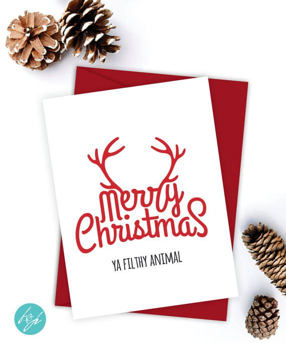 Funny Christmas Card Girlfriend Christmas Card Boyfriend