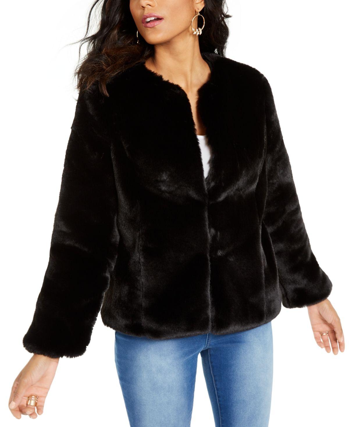 Thalia Sodi FauxFur Leopard Jacket, Created For Macy's