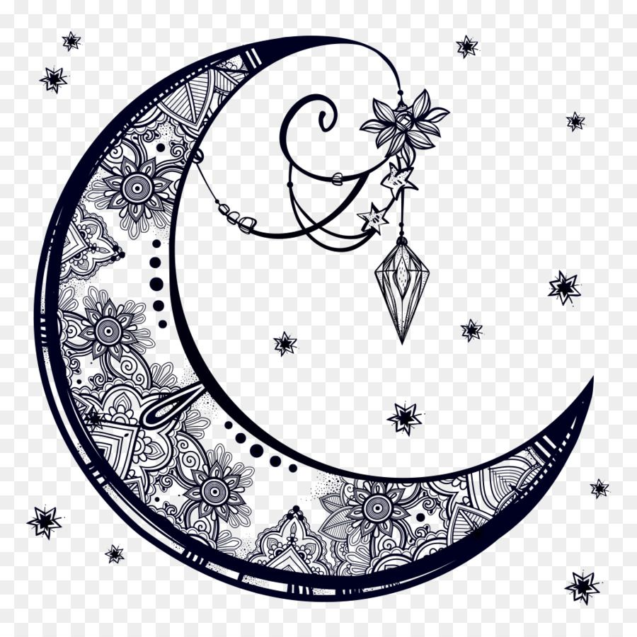 Drawing Crescent Moon Moon Decoration Moon Drawing Geometric Compass Tattoo Moon Sketches