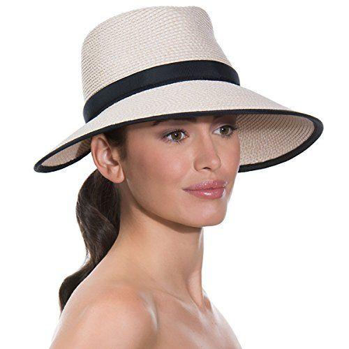 8da6f5818 Eric Javits Womens Headwear Suncrest Hat CreamBlack *** You can find ...