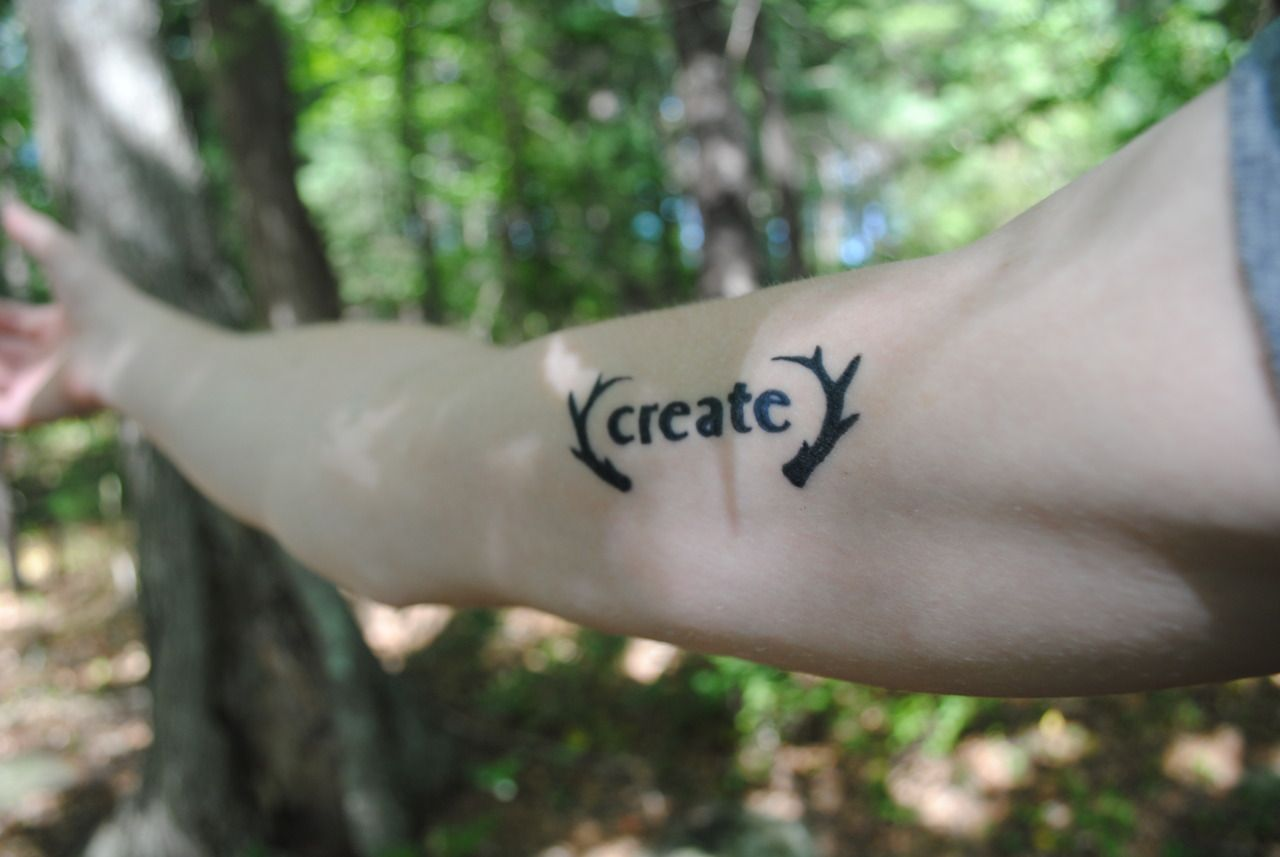 Name tattoo good idea the word create as a tattoo  tattoo inspirations  pinterest