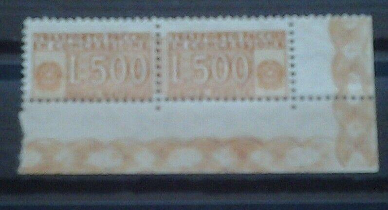 Italia Pacchi In Concessione Coppia 500 Lire Varieta Dent