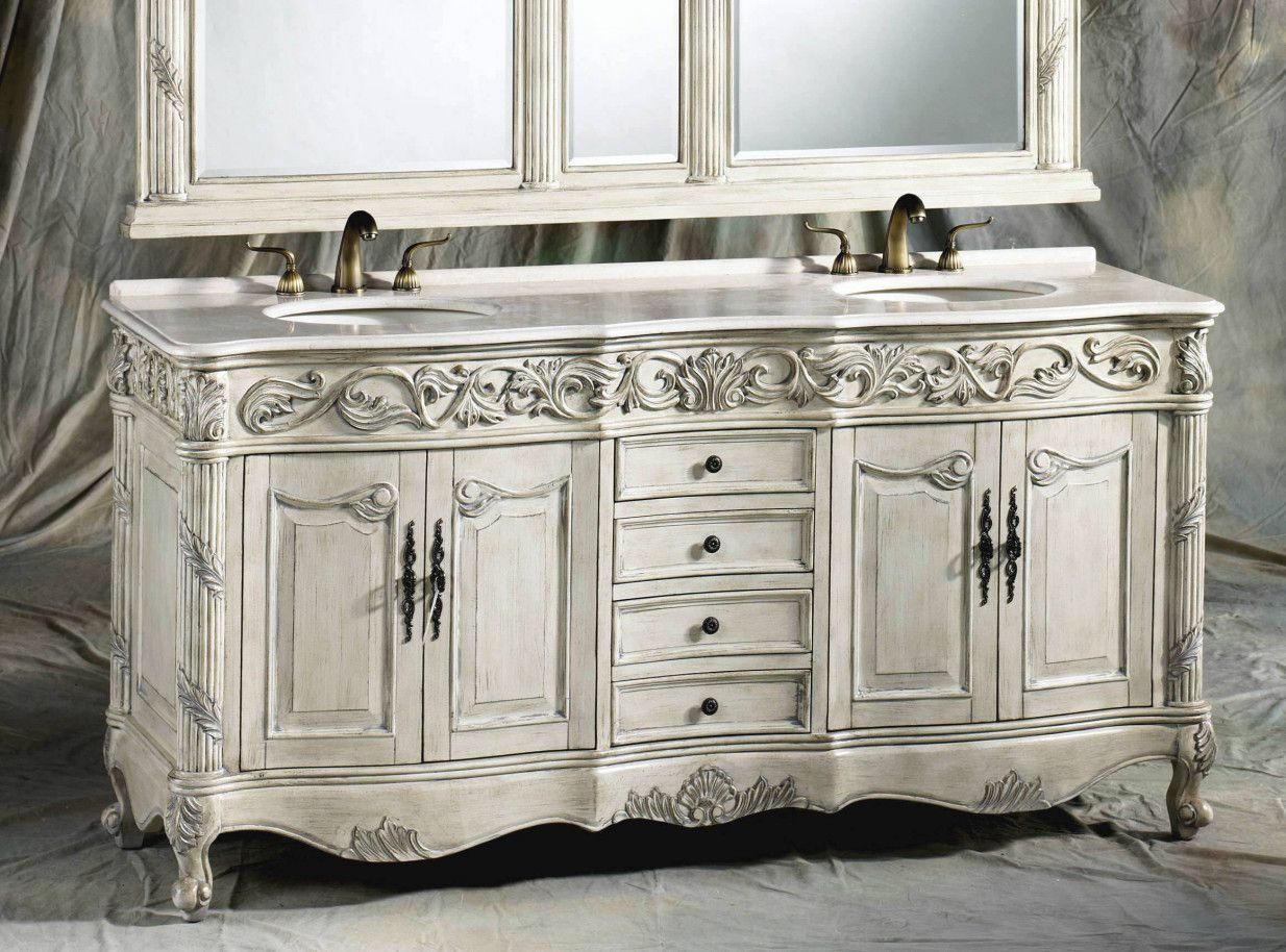 50 Distressed White Bathroom Vanity Cabinet Best Interior Paint Brands Check More At