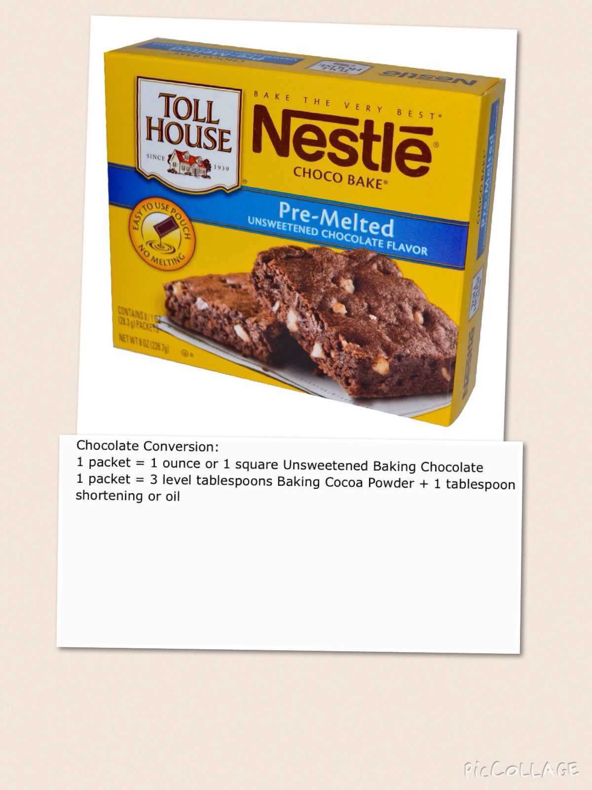 Choco bake substitute baking cocoa melting chocolate