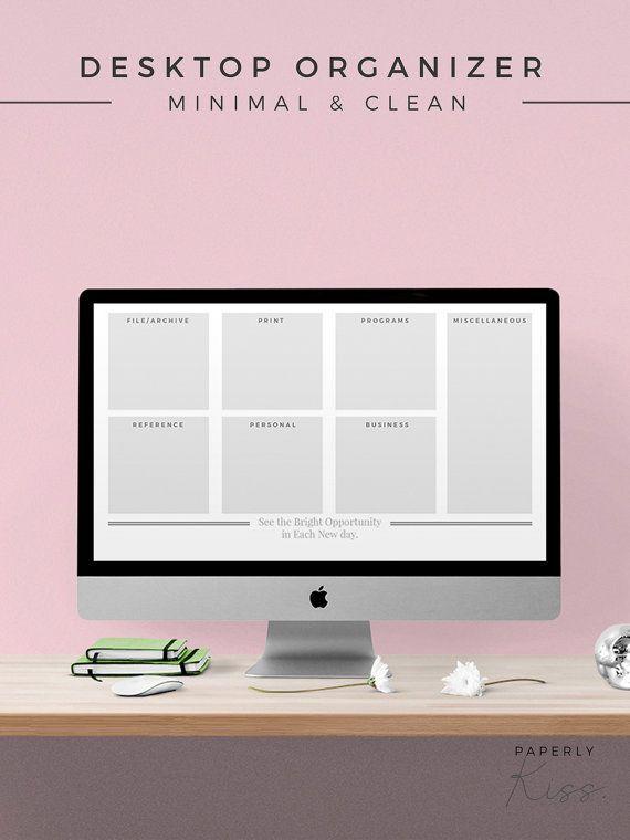 Desktop Organizer, Business Workflow Wallpaper, Digital ...