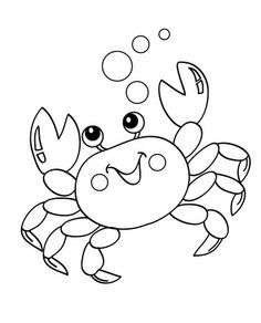 Top 10 Free Printable Crab Coloring Pages Online Crab Art Coloring Pages Animal Coloring Pages