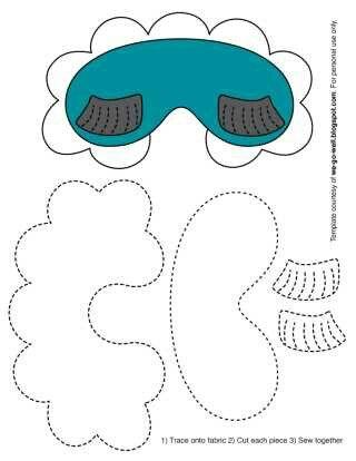 Sleep mask pattern - no link | eye mask (göz maskesi) | Pinterest ...
