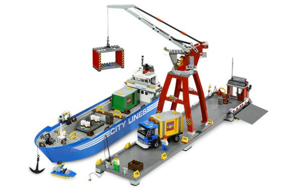 Lego Seaport Train Station Crane 7994